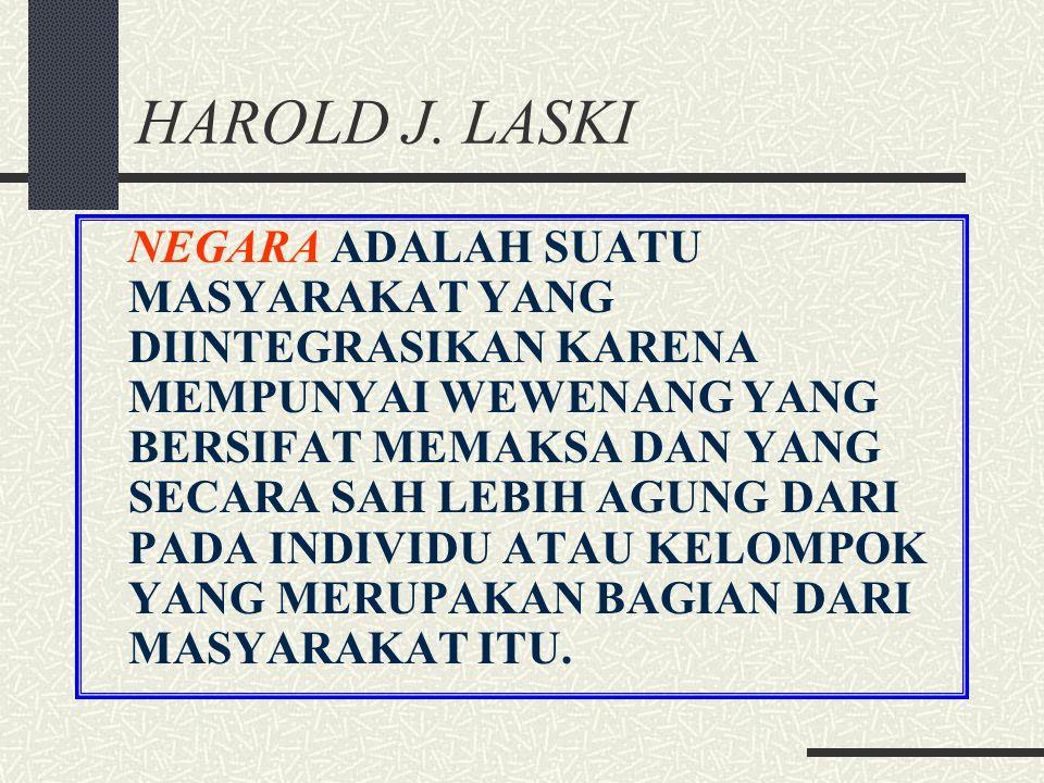 HAROLD J. LASKI