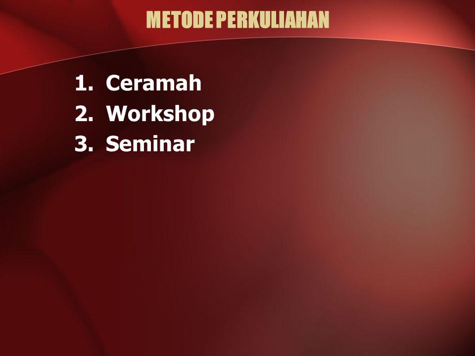 METODE PERKULIAHAN Ceramah Workshop Seminar