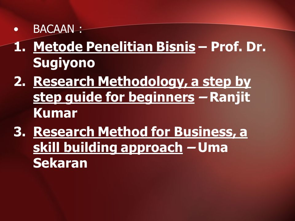 research methodology steps Written specifically for students with no previous experience of research and research methodology, the third edition of research methodology breaks the process of designing and doing a research project into eight manageable steps and provides plenty of examples throughout to link theory to the practice of doing research.