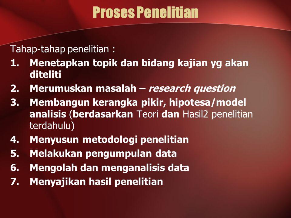 Proses Penelitian Tahap-tahap penelitian :