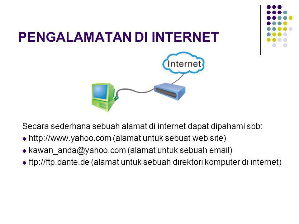 PENGALAMATAN DI INTERNET