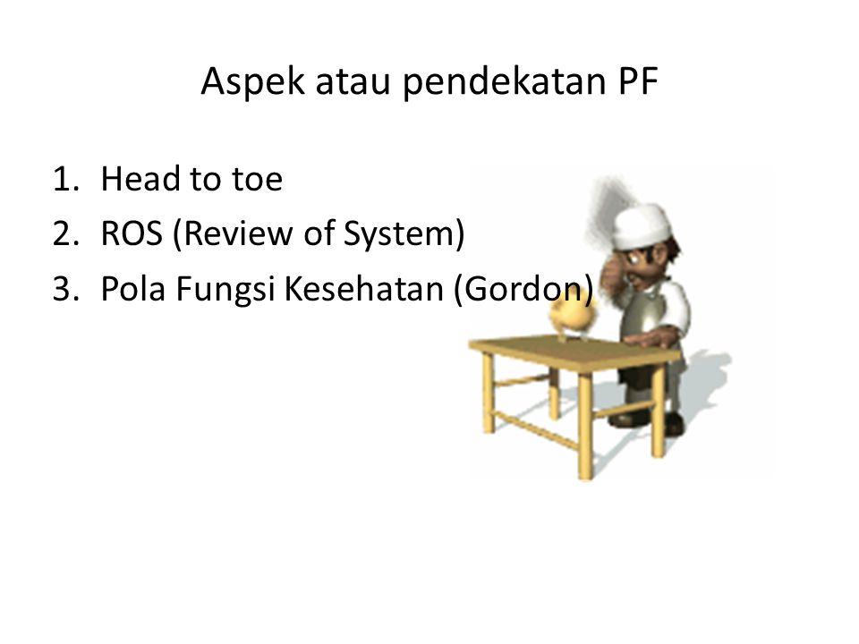 Aspek atau pendekatan PF