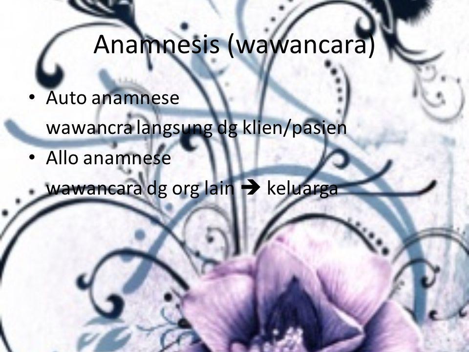 Anamnesis (wawancara)