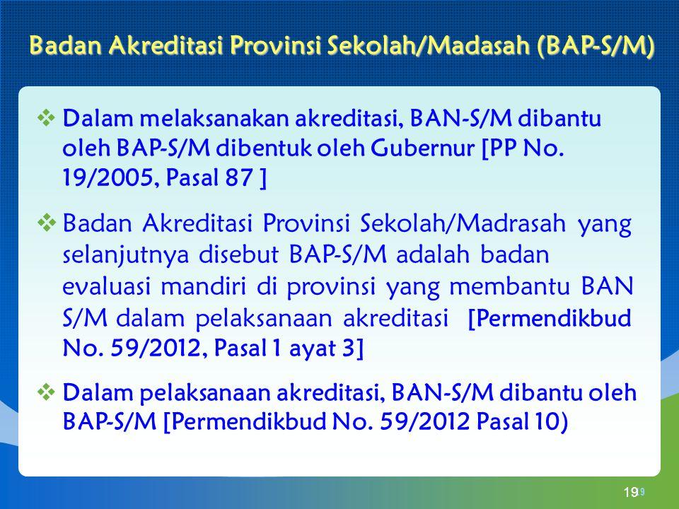 Badan Akreditasi Provinsi Sekolah/Madasah (BAP-S/M)