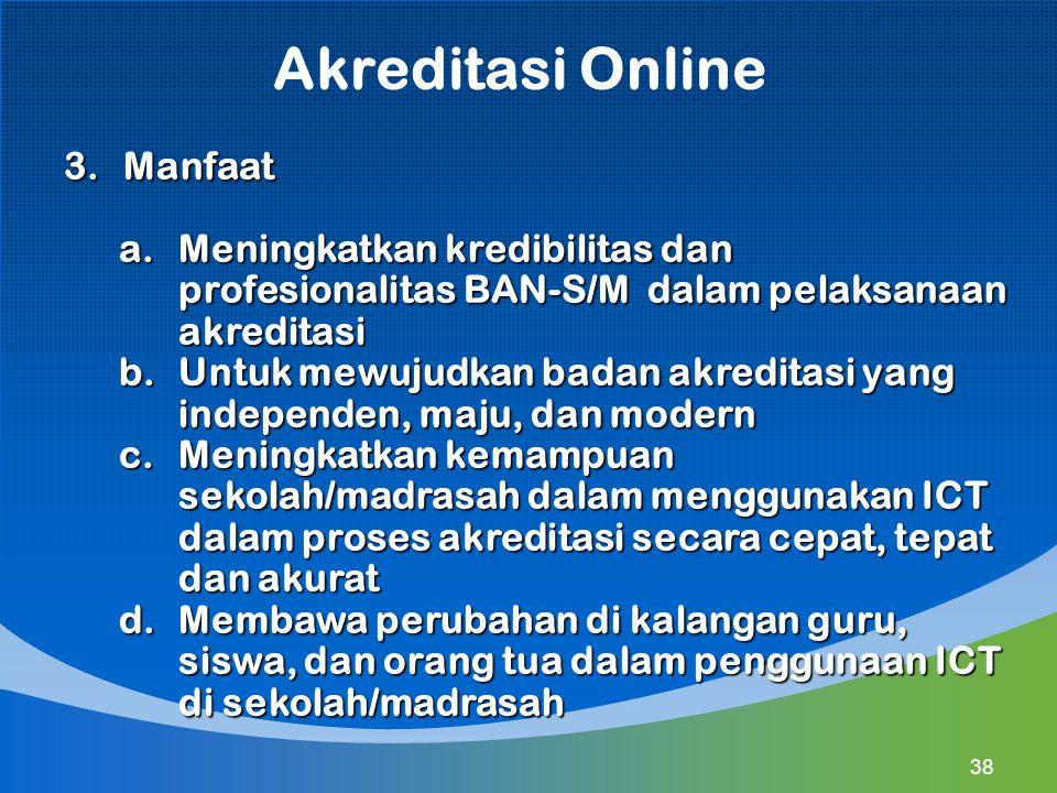 Akreditasi Online Manfaat