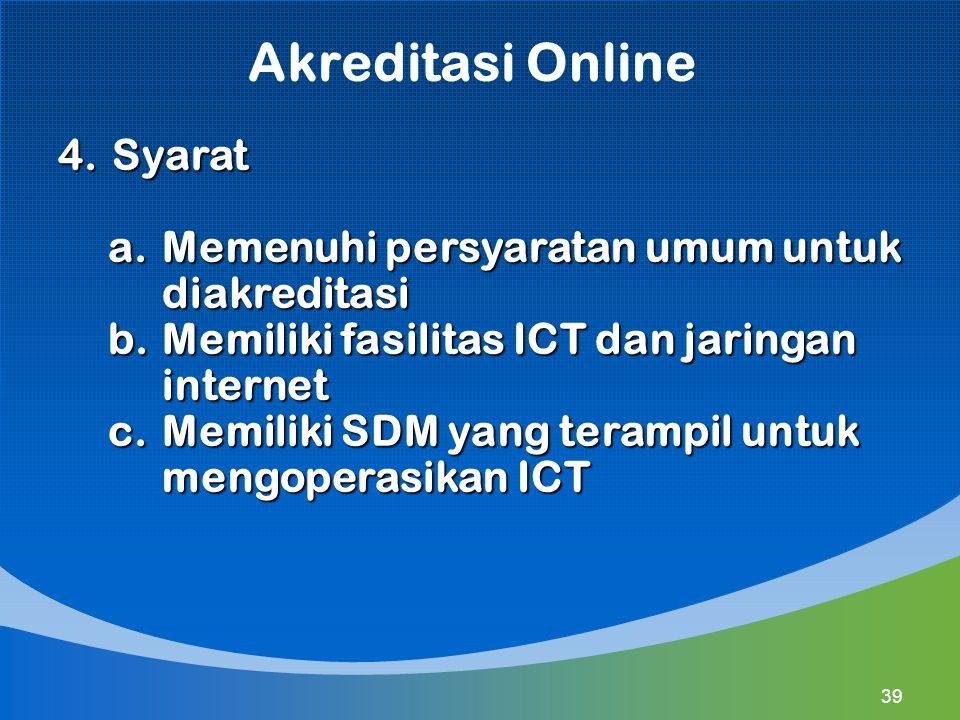 Akreditasi Online Syarat Memenuhi persyaratan umum untuk diakreditasi