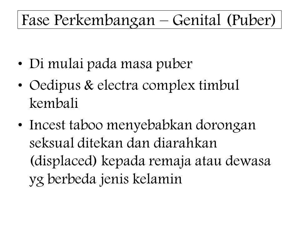 Fase Perkembangan – Genital (Puber)