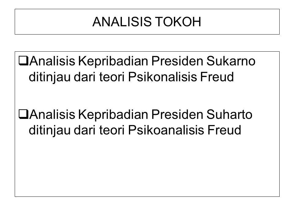 ANALISIS TOKOH Analisis Kepribadian Presiden Sukarno ditinjau dari teori Psikonalisis Freud.