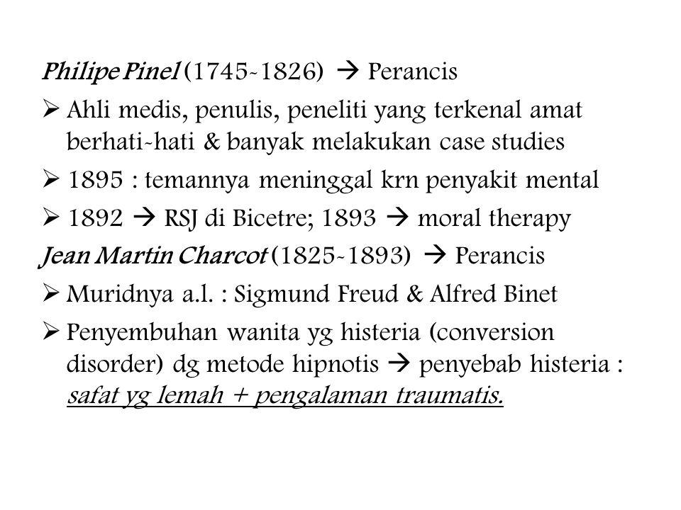 Philipe Pinel (1745-1826)  Perancis
