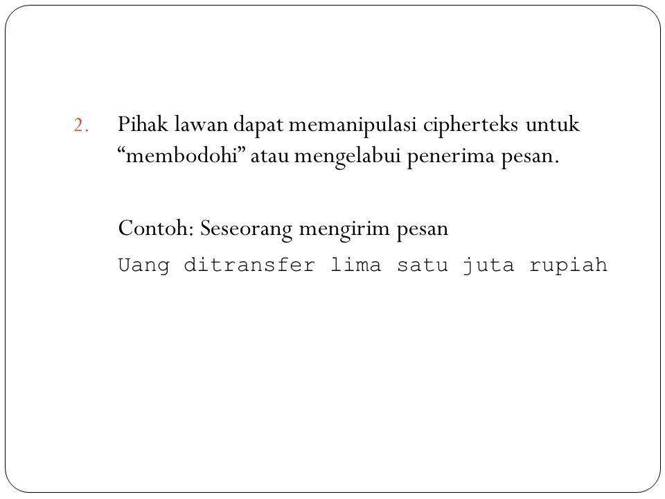 Contoh: Seseorang mengirim pesan