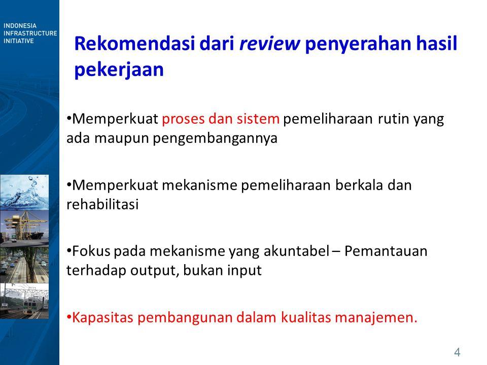 Rekomendasi dari review penyerahan hasil pekerjaan