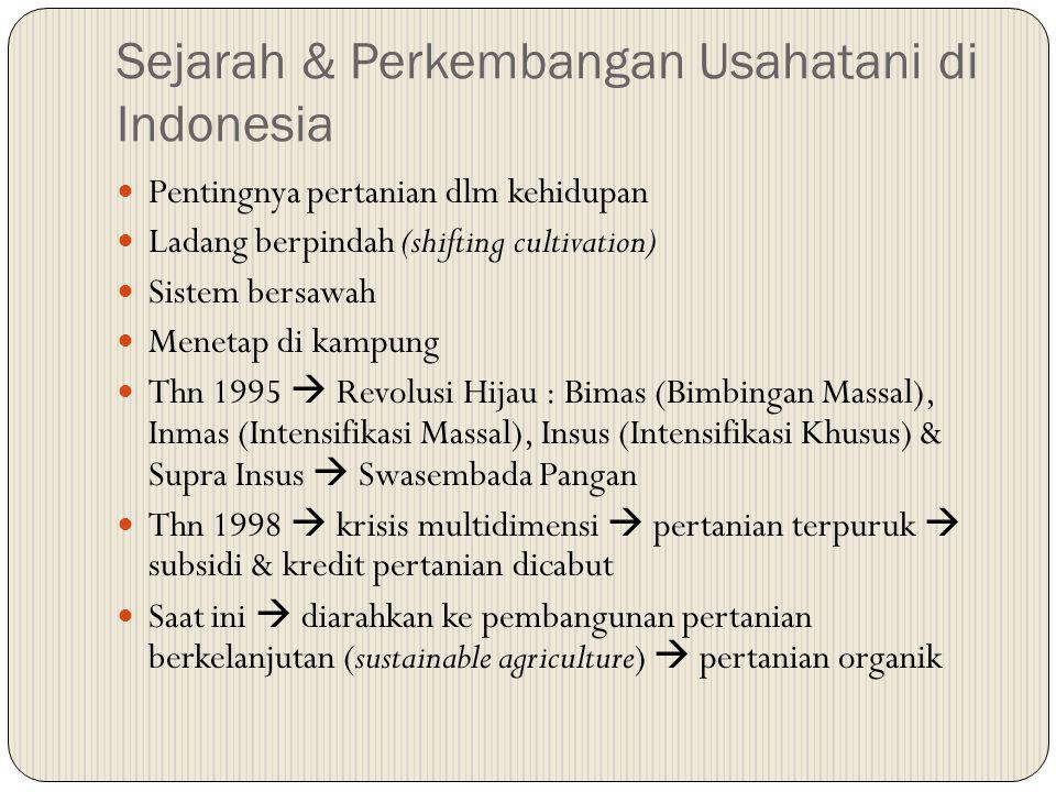 Sejarah & Perkembangan Usahatani di Indonesia
