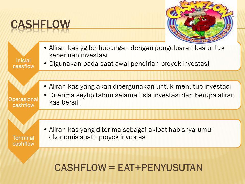 CASHFLOW = EAT+PENYUSUTAN
