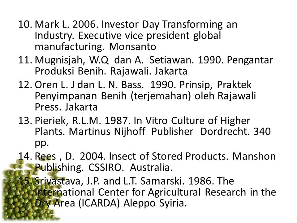 Mark L. 2006. Investor Day Transforming an Industry