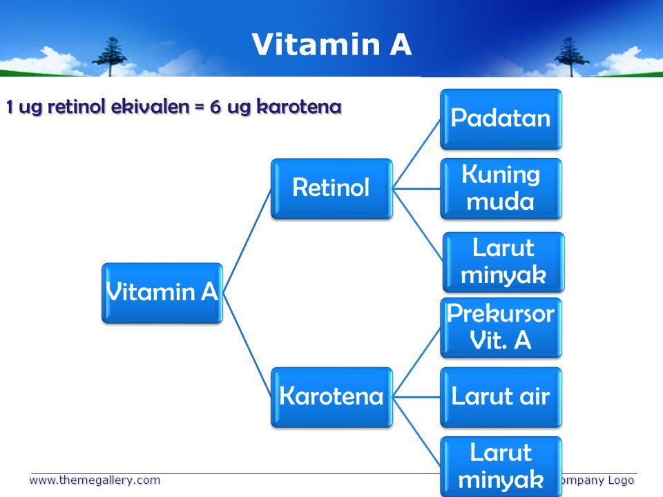 Vitamin A 1 ug retinol ekivalen = 6 ug karotena www.themegallery.com