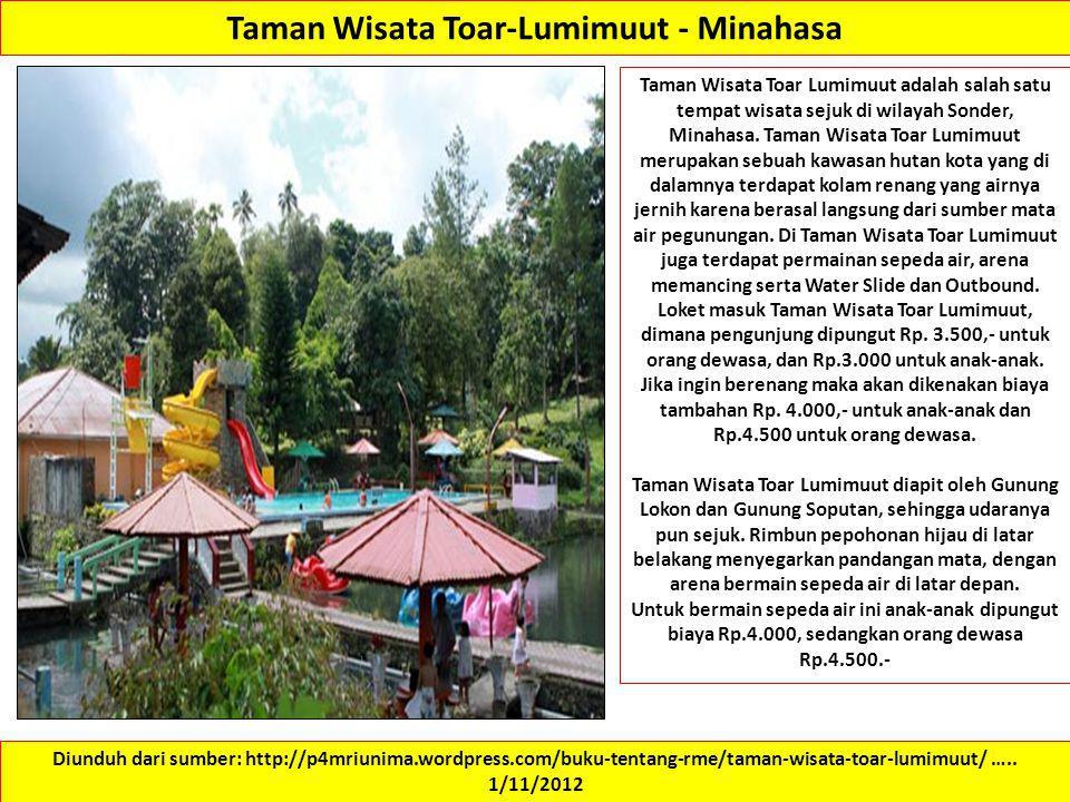 Taman Wisata Toar-Lumimuut - Minahasa