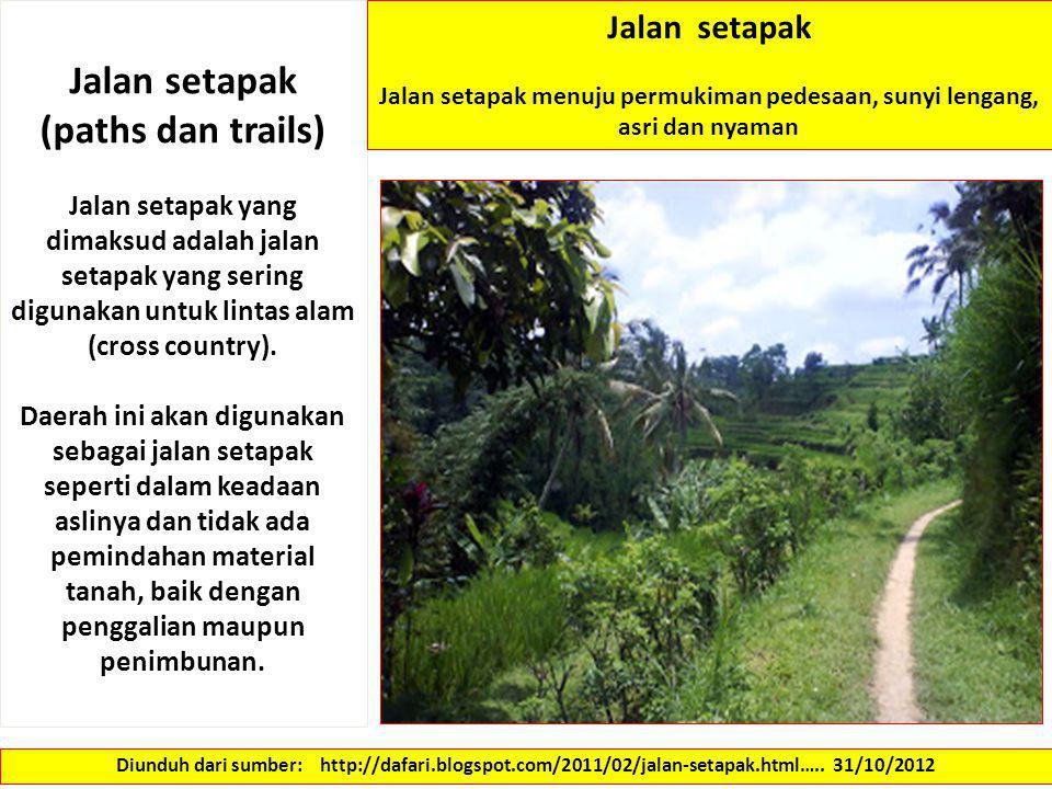 Jalan setapak (paths dan trails)