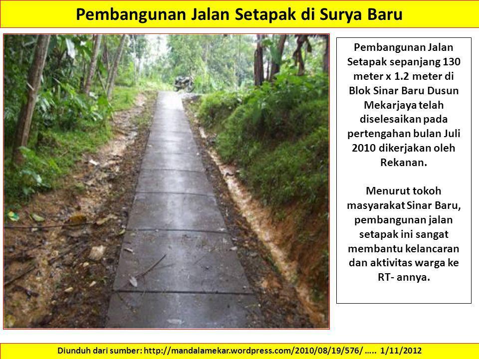 Pembangunan Jalan Setapak di Surya Baru