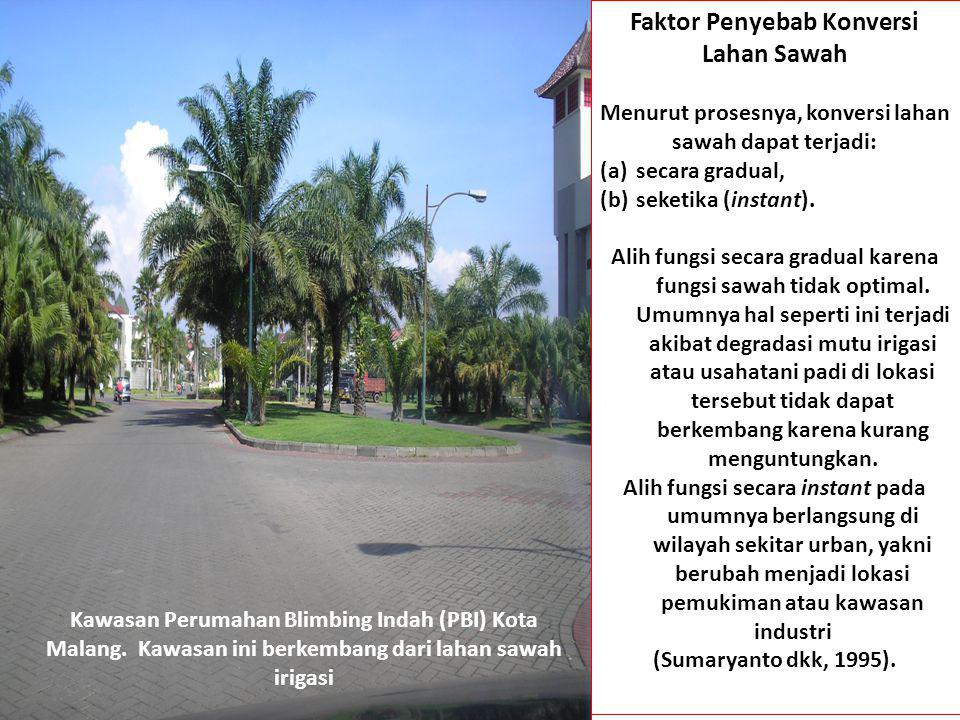 Faktor Penyebab Konversi Lahan Sawah