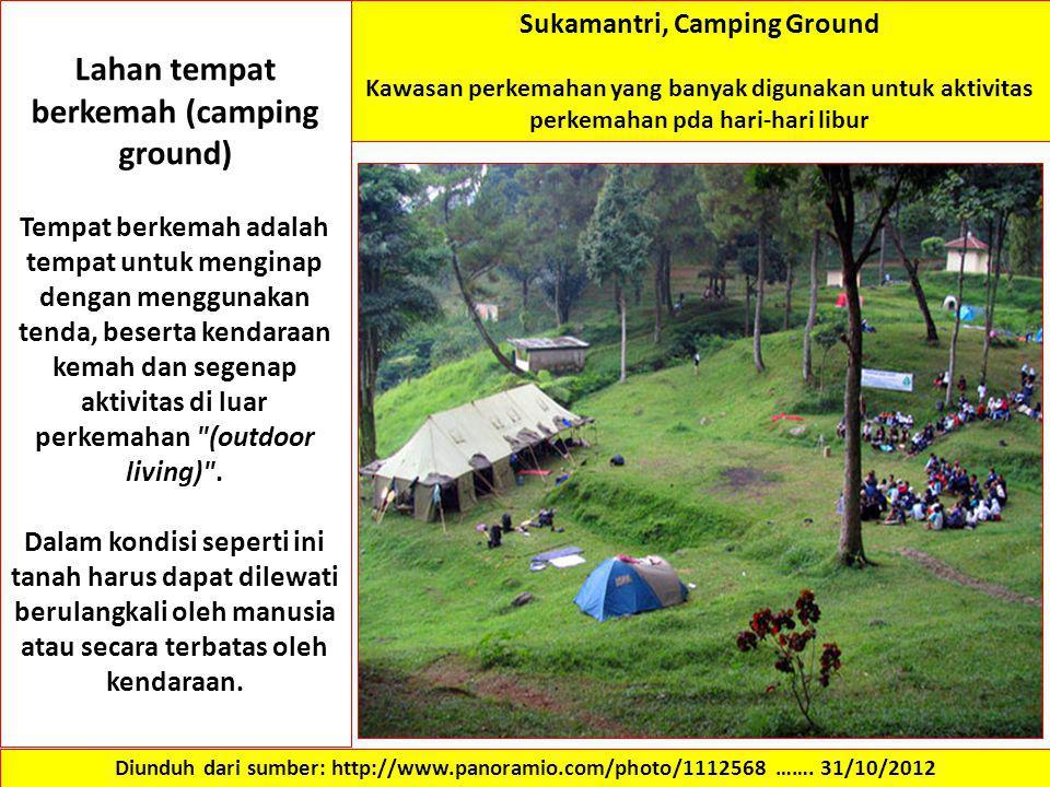 Lahan tempat berkemah (camping ground) Sukamantri, Camping Ground