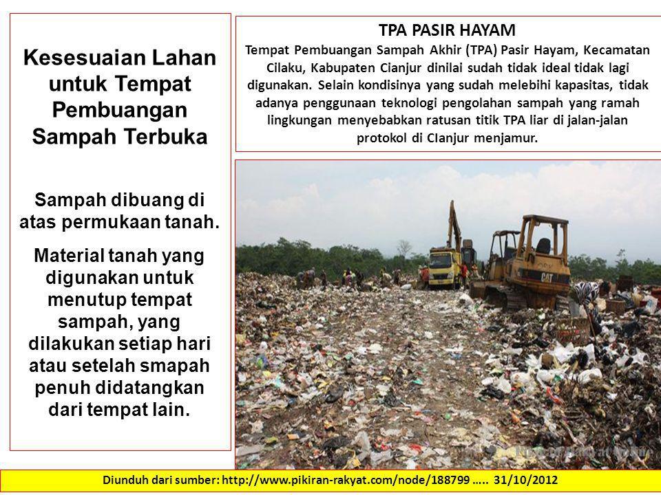 Kesesuaian Lahan untuk Tempat Pembuangan Sampah Terbuka
