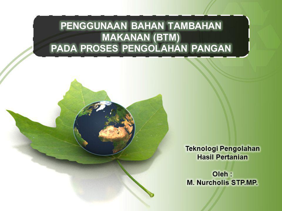 PENGGUNAAN BAHAN TAMBAHAN MAKANAN (BTM) PADA PROSES PENGOLAHAN PANGAN