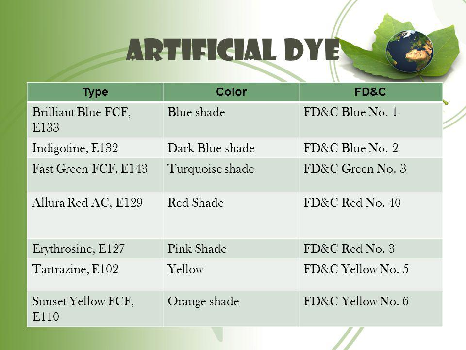 Artificial Dye Brilliant Blue FCF, E133 Blue shade FD&C Blue No. 1