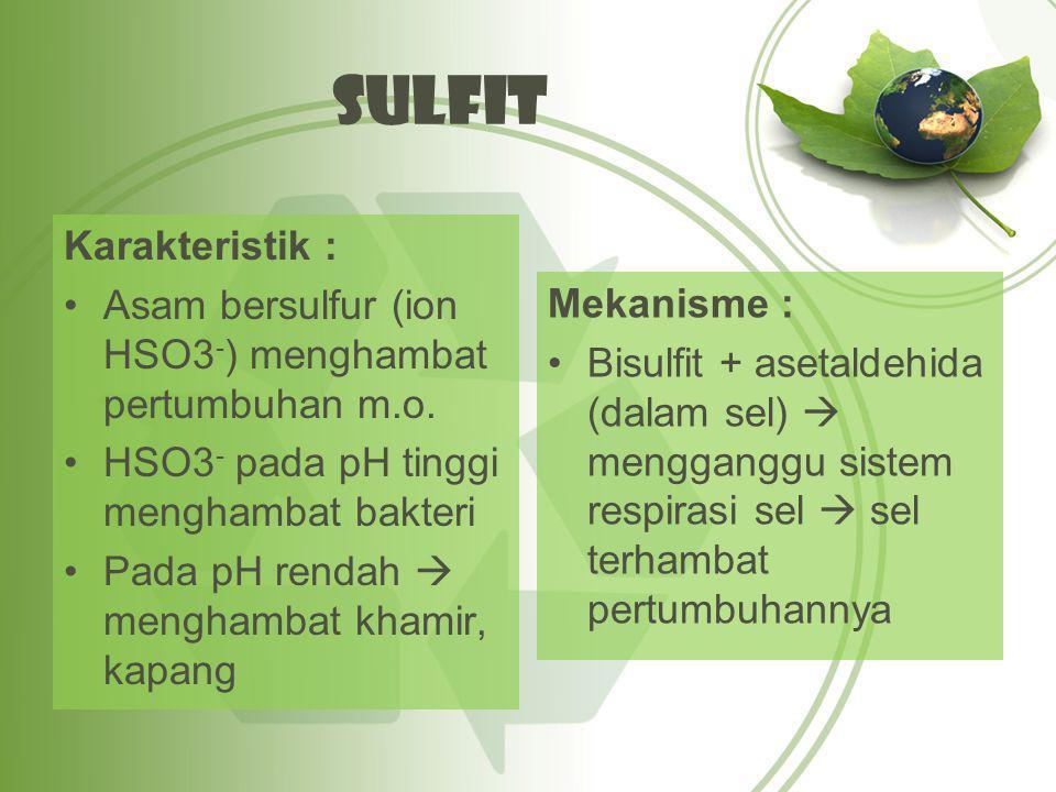 Sulfit Karakteristik :