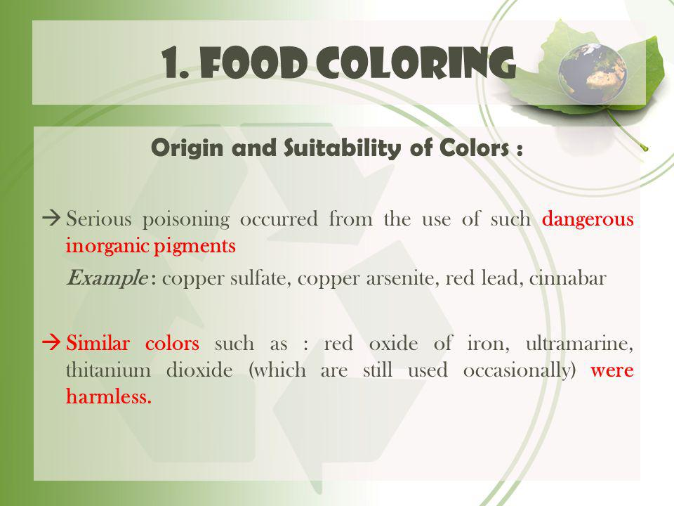 Origin and Suitability of Colors :