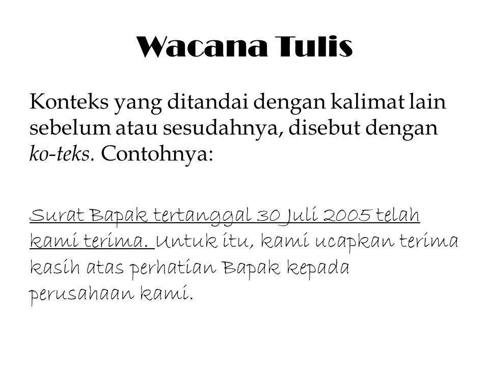 Wacana Tulis