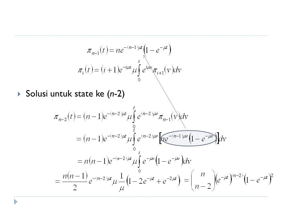 Solusi untuk state ke (n-2)