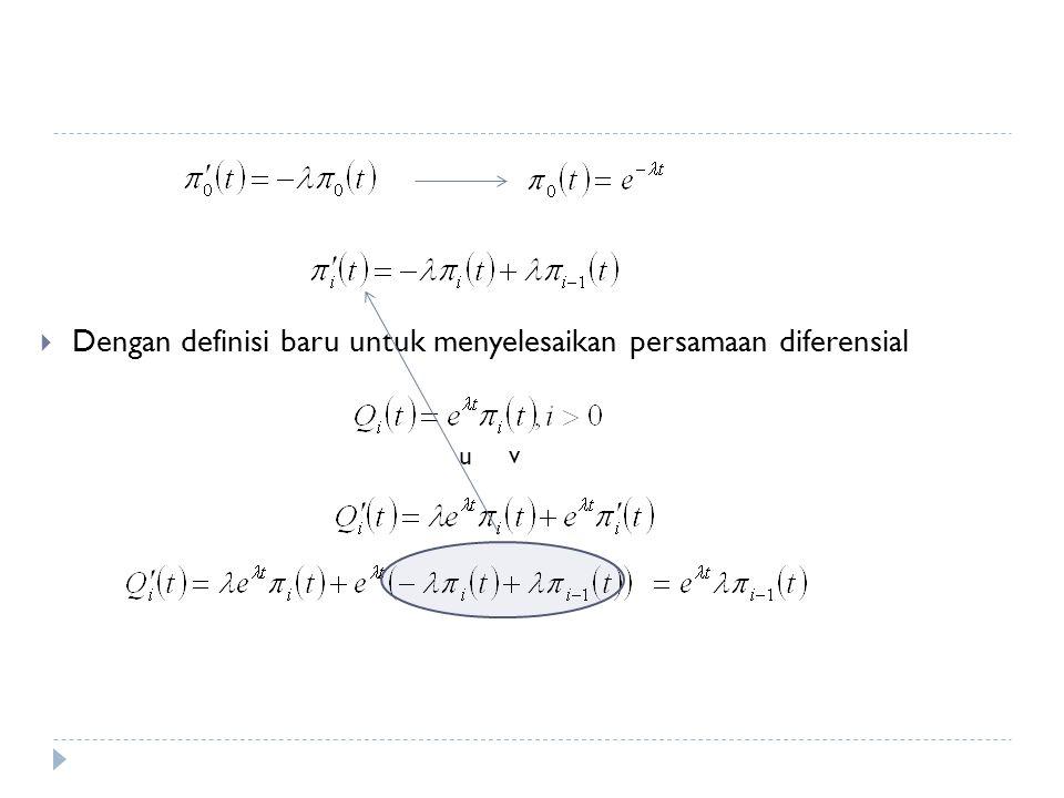 Dengan definisi baru untuk menyelesaikan persamaan diferensial