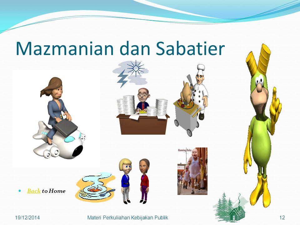Mazmanian dan Sabatier