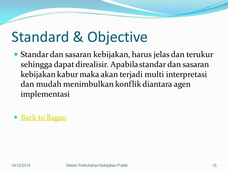 Standard & Objective