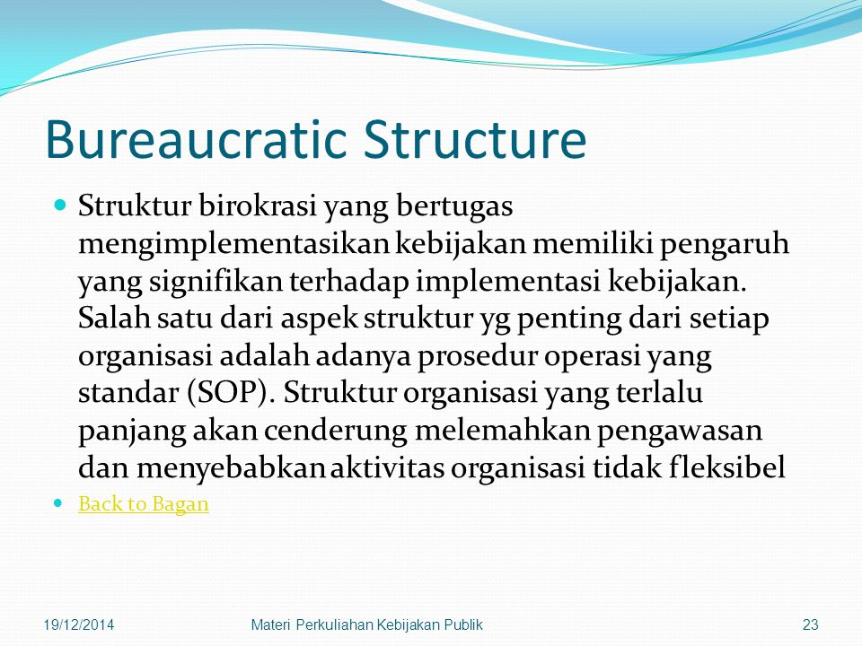 Bureaucratic Structure