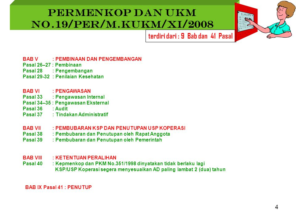PERMENKOP DAN UKM No.19/Per/M.KUKM/XI/2008