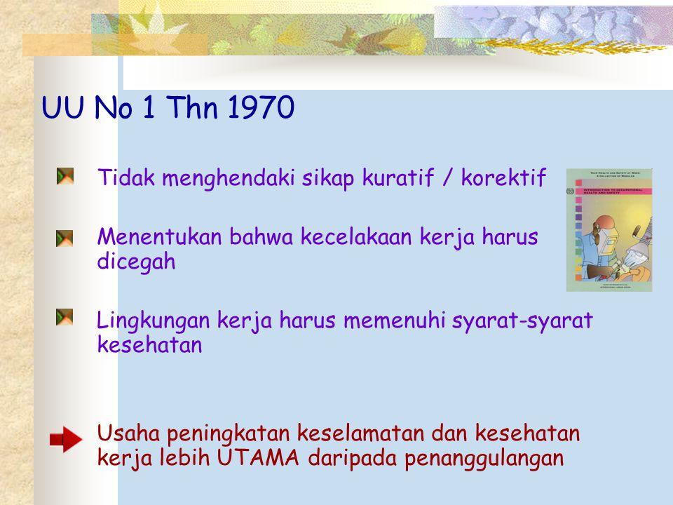 UU No 1 Thn 1970 Tidak menghendaki sikap kuratif / korektif