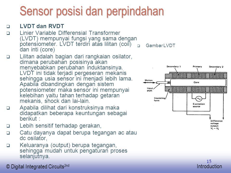 Sensor posisi dan perpindahan