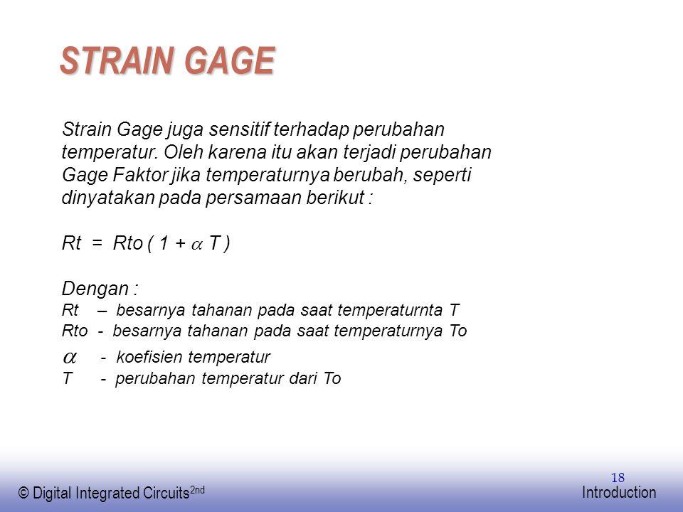 STRAIN GAGE  - koefisien temperatur