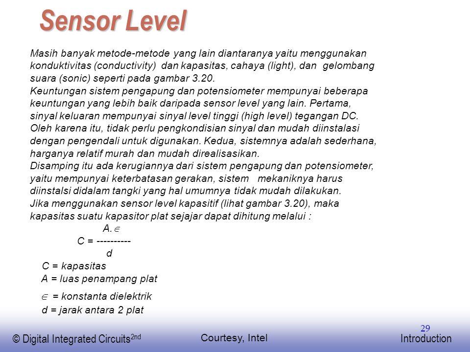 Sensor Level  = konstanta dielektrik