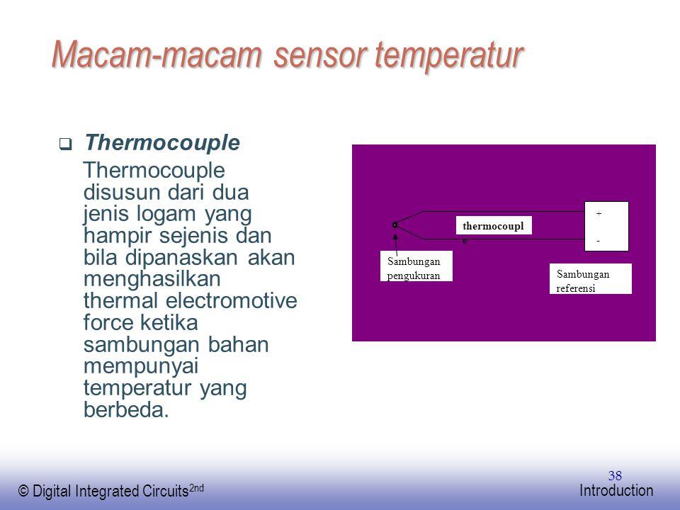 Macam-macam sensor temperatur