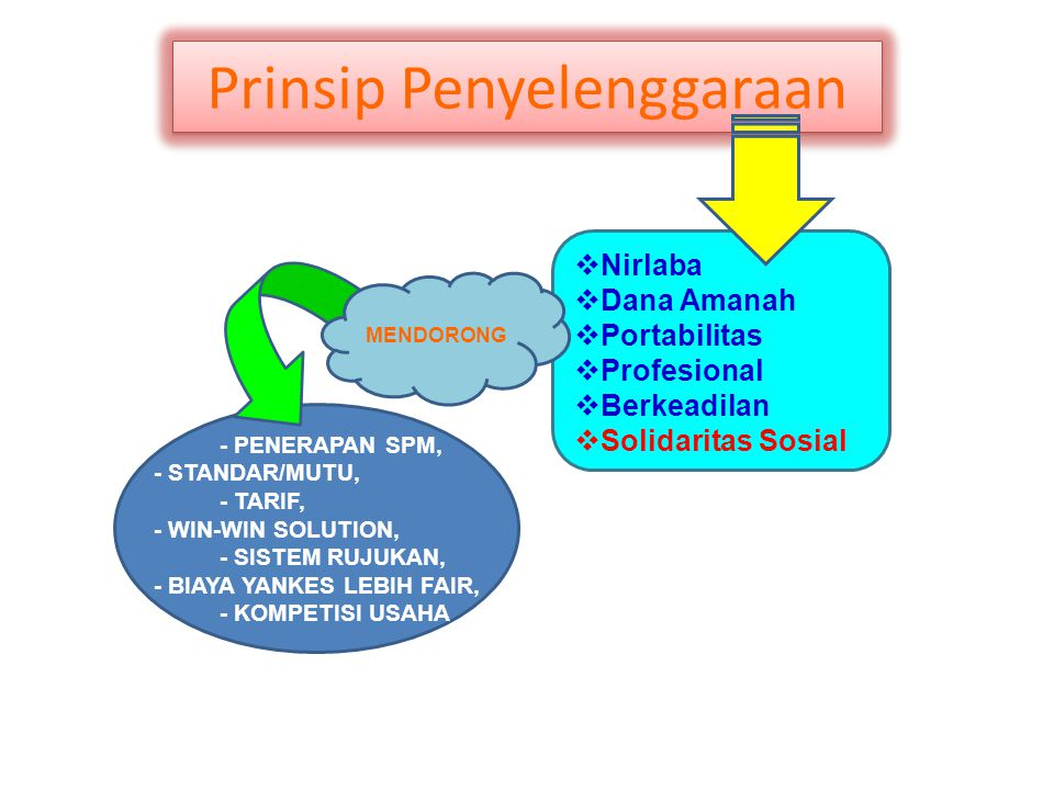 Prinsip Penyelenggaraan