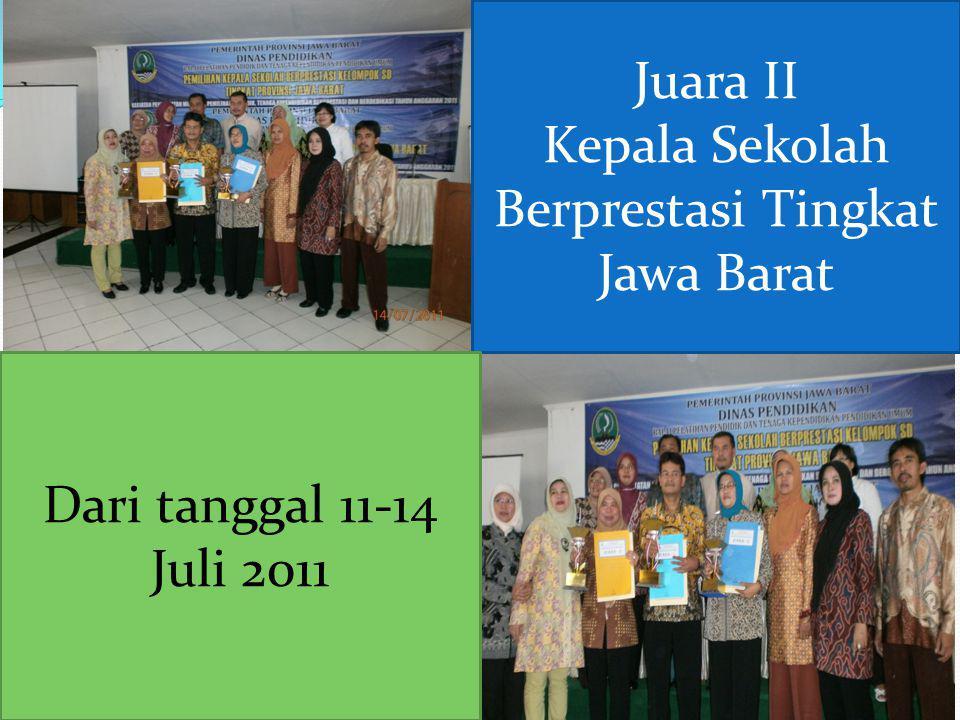 Kepala Sekolah Berprestasi Tingkat Jawa Barat