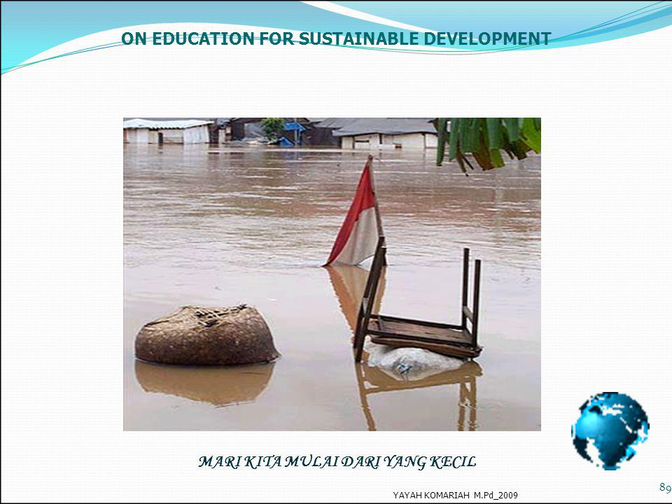 ON EDUCATION FOR SUSTAINABLE DEVELOPMENT