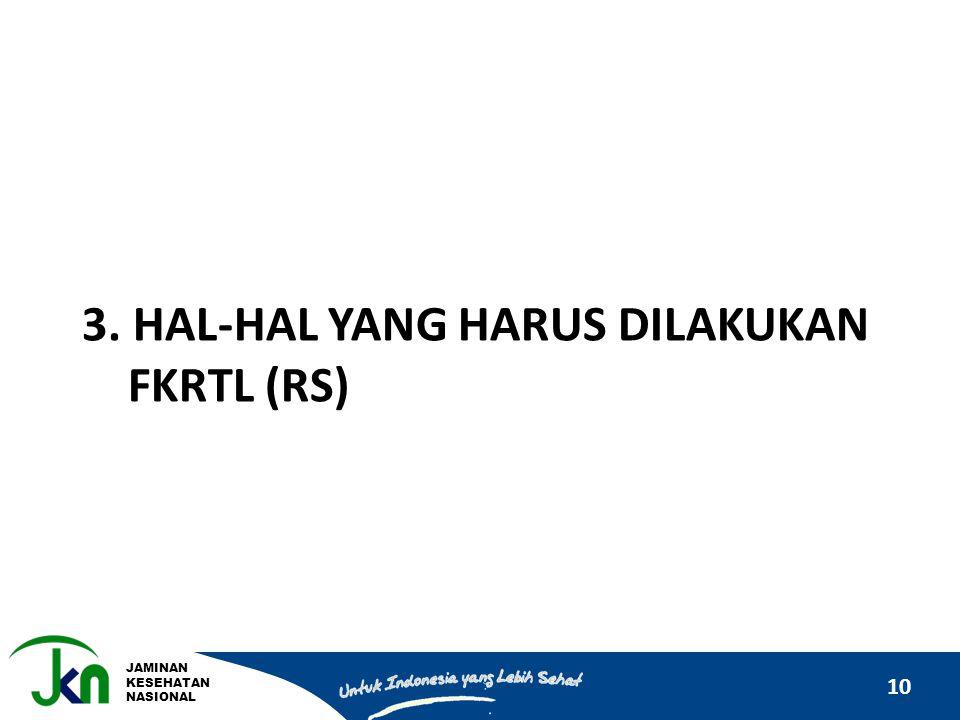 3. hal-hal yang harus dilakukan fkrtl (rs)