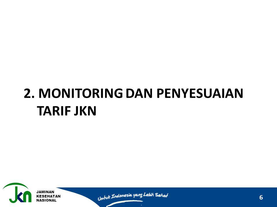 2. Monitoring dan PENYESUAIAN tarif jkn