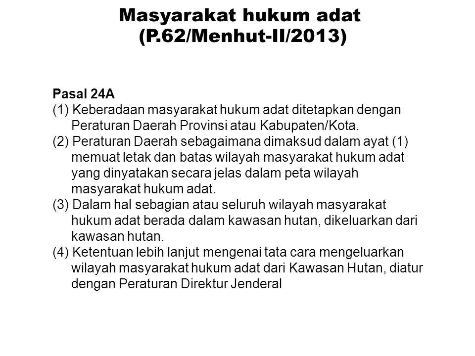 Masyarakat hukum adat (P.62/Menhut-II/2013)