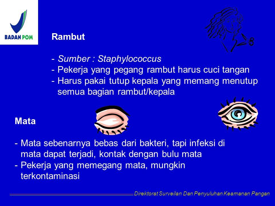 Sumber : Staphylococcus Pekerja yang pegang rambut harus cuci tangan