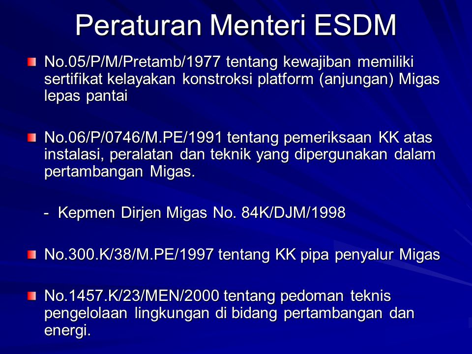 Peraturan Menteri ESDM