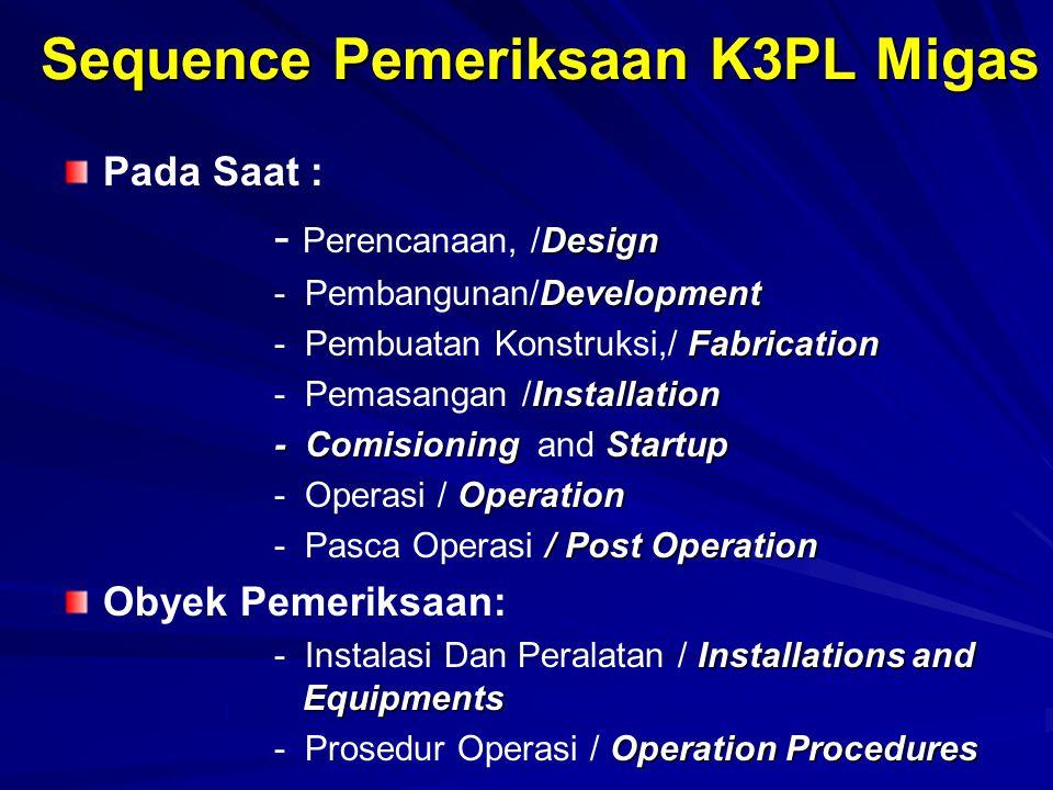 Sequence Pemeriksaan K3PL Migas